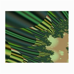 A Feathery Sort Of Green Image Shades Of Green And Cream Fractal Small Glasses Cloth (2 Side)