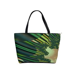 A Feathery Sort Of Green Image Shades Of Green And Cream Fractal Shoulder Handbags