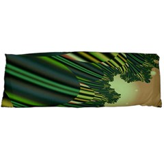 A Feathery Sort Of Green Image Shades Of Green And Cream Fractal Body Pillow Case Dakimakura (Two Sides)