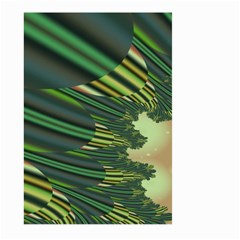 A Feathery Sort Of Green Image Shades Of Green And Cream Fractal Large Garden Flag (Two Sides)