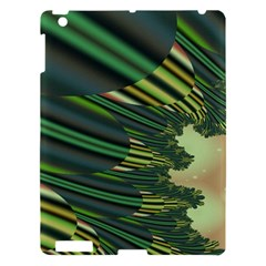 A Feathery Sort Of Green Image Shades Of Green And Cream Fractal Apple iPad 3/4 Hardshell Case