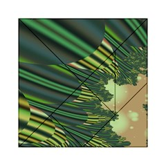 A Feathery Sort Of Green Image Shades Of Green And Cream Fractal Acrylic Tangram Puzzle (6  x 6 )