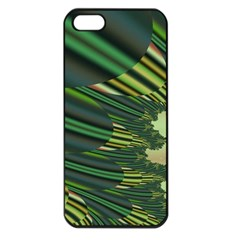 A Feathery Sort Of Green Image Shades Of Green And Cream Fractal Apple iPhone 5 Seamless Case (Black)