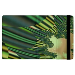 A Feathery Sort Of Green Image Shades Of Green And Cream Fractal Apple iPad 3/4 Flip Case