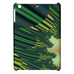 A Feathery Sort Of Green Image Shades Of Green And Cream Fractal Apple iPad Mini Hardshell Case