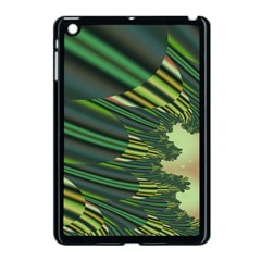 A Feathery Sort Of Green Image Shades Of Green And Cream Fractal Apple iPad Mini Case (Black)