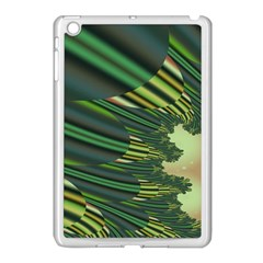 A Feathery Sort Of Green Image Shades Of Green And Cream Fractal Apple iPad Mini Case (White)