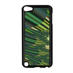 A Feathery Sort Of Green Image Shades Of Green And Cream Fractal Apple iPod Touch 5 Case (Black)