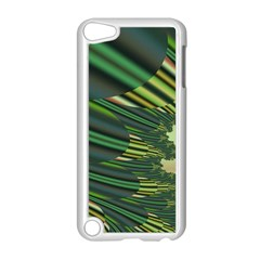 A Feathery Sort Of Green Image Shades Of Green And Cream Fractal Apple Ipod Touch 5 Case (white)