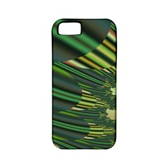 A Feathery Sort Of Green Image Shades Of Green And Cream Fractal Apple iPhone 5 Classic Hardshell Case (PC+Silicone)