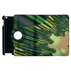 A Feathery Sort Of Green Image Shades Of Green And Cream Fractal Apple Ipad 3/4 Flip 360 Case