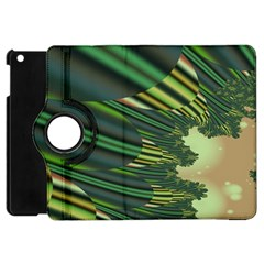 A Feathery Sort Of Green Image Shades Of Green And Cream Fractal Apple iPad Mini Flip 360 Case