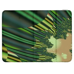 A Feathery Sort Of Green Image Shades Of Green And Cream Fractal Samsung Galaxy Tab 7  P1000 Flip Case