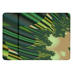 A Feathery Sort Of Green Image Shades Of Green And Cream Fractal Samsung Galaxy Tab 8.9  P7300 Flip Case