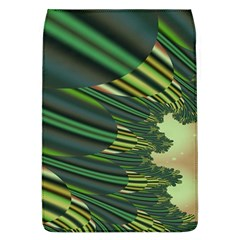 A Feathery Sort Of Green Image Shades Of Green And Cream Fractal Flap Covers (l)