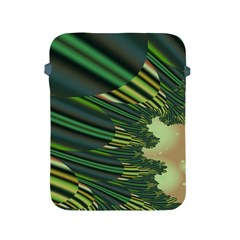 A Feathery Sort Of Green Image Shades Of Green And Cream Fractal Apple iPad 2/3/4 Protective Soft Cases