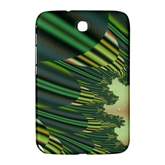 A Feathery Sort Of Green Image Shades Of Green And Cream Fractal Samsung Galaxy Note 8.0 N5100 Hardshell Case