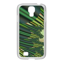 A Feathery Sort Of Green Image Shades Of Green And Cream Fractal Samsung GALAXY S4 I9500/ I9505 Case (White)