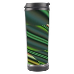 A Feathery Sort Of Green Image Shades Of Green And Cream Fractal Travel Tumbler