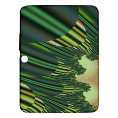 A Feathery Sort Of Green Image Shades Of Green And Cream Fractal Samsung Galaxy Tab 3 (10.1 ) P5200 Hardshell Case