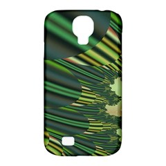 A Feathery Sort Of Green Image Shades Of Green And Cream Fractal Samsung Galaxy S4 Classic Hardshell Case (PC+Silicone)