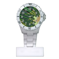 A Feathery Sort Of Green Image Shades Of Green And Cream Fractal Plastic Nurses Watch