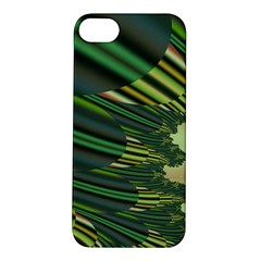 A Feathery Sort Of Green Image Shades Of Green And Cream Fractal Apple iPhone 5S/ SE Hardshell Case