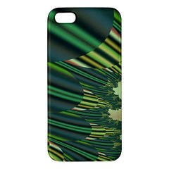 A Feathery Sort Of Green Image Shades Of Green And Cream Fractal iPhone 5S/ SE Premium Hardshell Case
