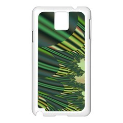A Feathery Sort Of Green Image Shades Of Green And Cream Fractal Samsung Galaxy Note 3 N9005 Case (White)