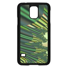 A Feathery Sort Of Green Image Shades Of Green And Cream Fractal Samsung Galaxy S5 Case (Black)