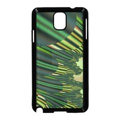 A Feathery Sort Of Green Image Shades Of Green And Cream Fractal Samsung Galaxy Note 3 Neo Hardshell Case (Black)