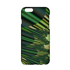 A Feathery Sort Of Green Image Shades Of Green And Cream Fractal Apple Iphone 6/6s Hardshell Case
