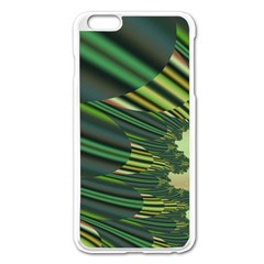 A Feathery Sort Of Green Image Shades Of Green And Cream Fractal Apple iPhone 6 Plus/6S Plus Enamel White Case