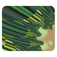 A Feathery Sort Of Green Image Shades Of Green And Cream Fractal Double Sided Flano Blanket (Small)