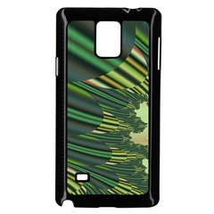 A Feathery Sort Of Green Image Shades Of Green And Cream Fractal Samsung Galaxy Note 4 Case (Black)