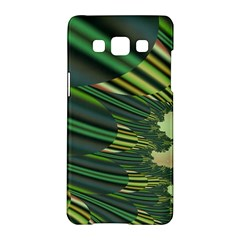 A Feathery Sort Of Green Image Shades Of Green And Cream Fractal Samsung Galaxy A5 Hardshell Case