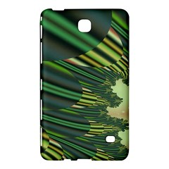 A Feathery Sort Of Green Image Shades Of Green And Cream Fractal Samsung Galaxy Tab 4 (7 ) Hardshell Case