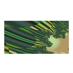 A Feathery Sort Of Green Image Shades Of Green And Cream Fractal Satin Wrap