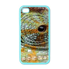 Macro Of The Eye Of A Chameleon Apple iPhone 4 Case (Color)