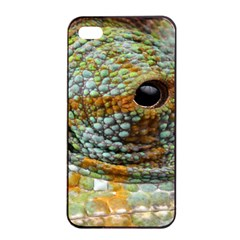 Macro Of The Eye Of A Chameleon Apple Iphone 4/4s Seamless Case (black)