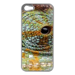 Macro Of The Eye Of A Chameleon Apple iPhone 5 Case (Silver)