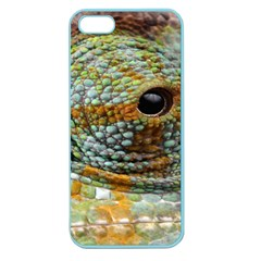 Macro Of The Eye Of A Chameleon Apple Seamless iPhone 5 Case (Color)