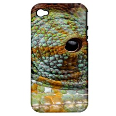 Macro Of The Eye Of A Chameleon Apple iPhone 4/4S Hardshell Case (PC+Silicone)