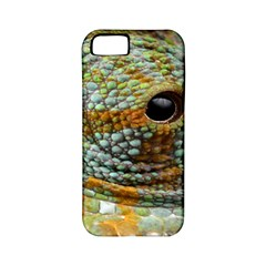Macro Of The Eye Of A Chameleon Apple iPhone 5 Classic Hardshell Case (PC+Silicone)