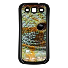 Macro Of The Eye Of A Chameleon Samsung Galaxy S3 Back Case (Black)