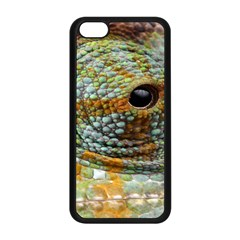 Macro Of The Eye Of A Chameleon Apple iPhone 5C Seamless Case (Black)
