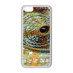 Macro Of The Eye Of A Chameleon Apple iPhone 5C Seamless Case (White)
