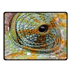 Macro Of The Eye Of A Chameleon Double Sided Fleece Blanket (small)