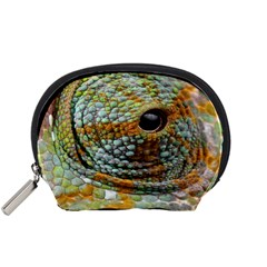 Macro Of The Eye Of A Chameleon Accessory Pouches (small)