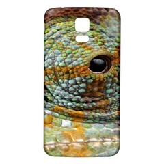 Macro Of The Eye Of A Chameleon Samsung Galaxy S5 Back Case (White)
